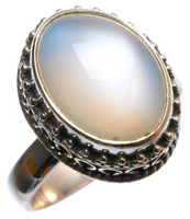 StarGems Tm Natural Mother Of Pearl Handmade Unique 925 Sterling Silver Ring US Size 7