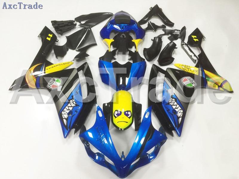 Motorcycle Fairings Kits For Yamaha YZF1000 YZF 1000 R1 YZF-R1 2007 2008 07 08 ABS Injection Fairing Bodywork Kit Black Blue запчасти для мотоциклов yamaha yzf1000 02 03 r1