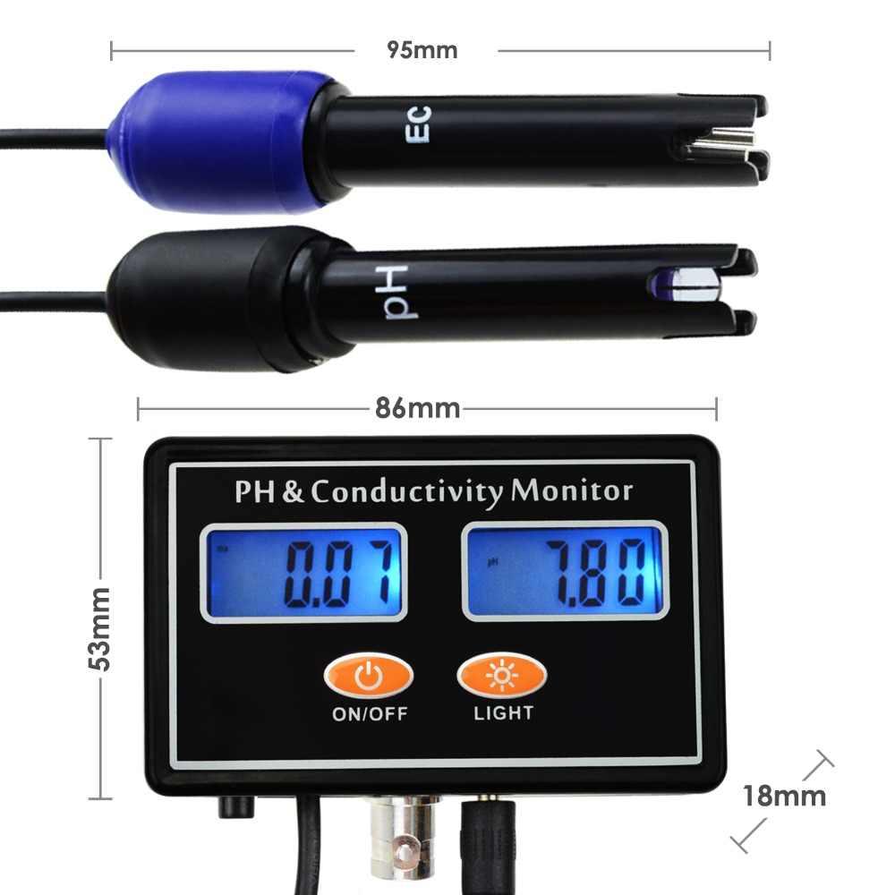 Testeur de conductivité PH/EC en ligne ATC, surveillance continue en temps réel de la qualité de l'eau, montage mural et Rechargeable