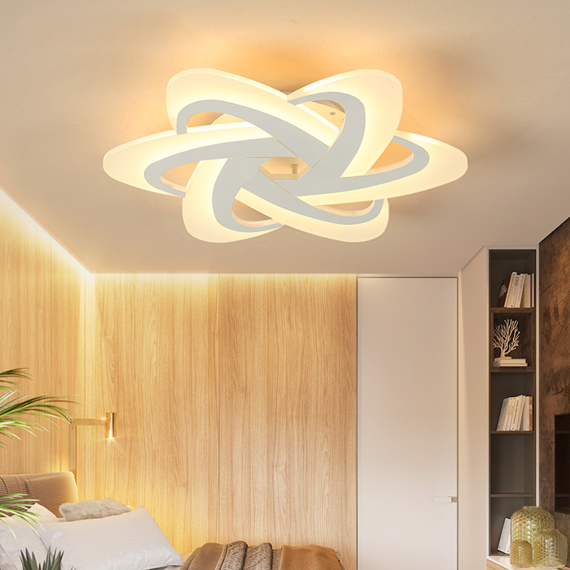 White Finish Living Room Bedroom Study Room Led Ceiling Lights lampara de techo led moderna Modern led Ceiling Lamp Fixtures все цены