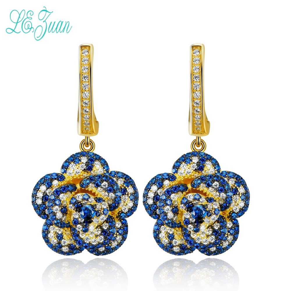 l&zuan Eardrop Earrings For Women S925 Sterling Silver Fine Jewelry Ethnic Style Multicolor Cubic Zirconia Flower-Shaped Brincos пудра на минеральной основе innisfree no sebum mineral pact