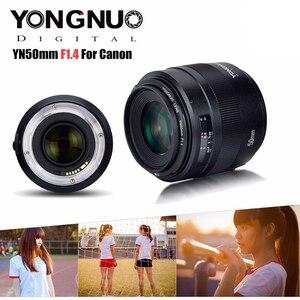 Image 3 - YONGNUO YN50mm 50mm F1.4 Standard Prime Lens Large Aperture Auto Focus Lens for Canon EOS 6D 70D 5D2 5D3 600D 60D DSLR Camera