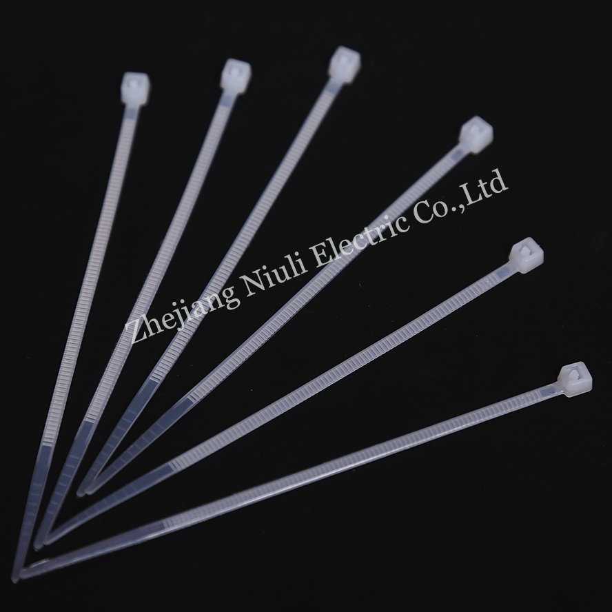 """1000 Set 8/"""" Long Nylon Plastic White Wire Cable Loop Zip Tie Ty Ties Wraps 40#"""