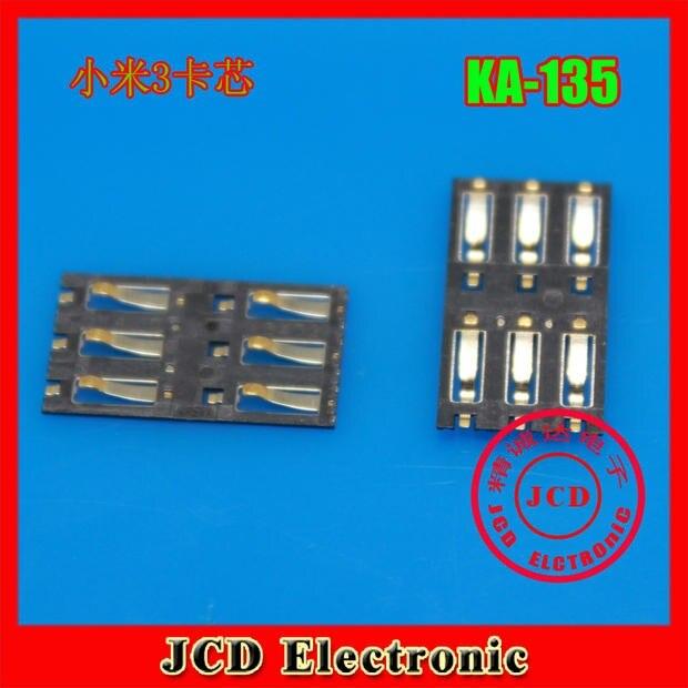 1 Pcs New OEM SIM Card Reader Connector Junctor holder socket slot FOR Xiaomi 3 M3 Mi3 Mi 3 Cell phone +Tracking code