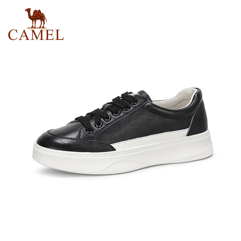 CAMEL Srpring New Women Genuine Leather Low Casual Shoes Women Comfort Retro Lace Single Shoes Student