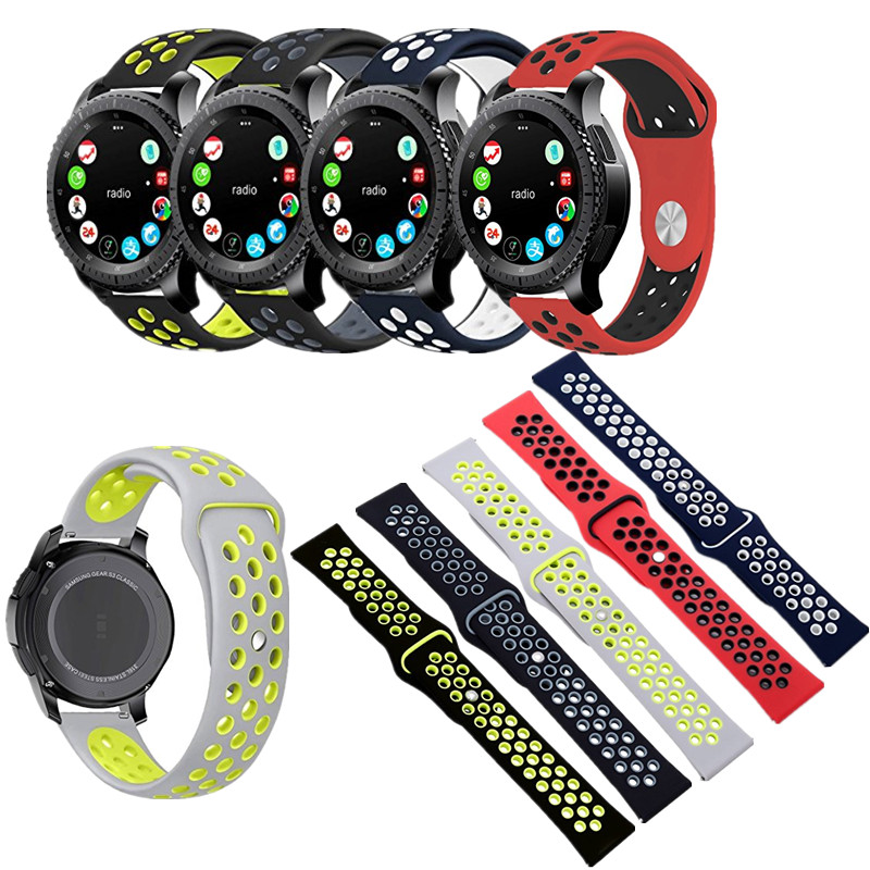 ASHEI Watchband for Gear S3 Sport Band Soft Silicone Breathable Band Replacement Strap for Gear S3 Frontier and Gear s3 Classic 22mm sports silicone strap for samsung gear s3 frontier band for gear s3 classic rubber watchband replacement wristband