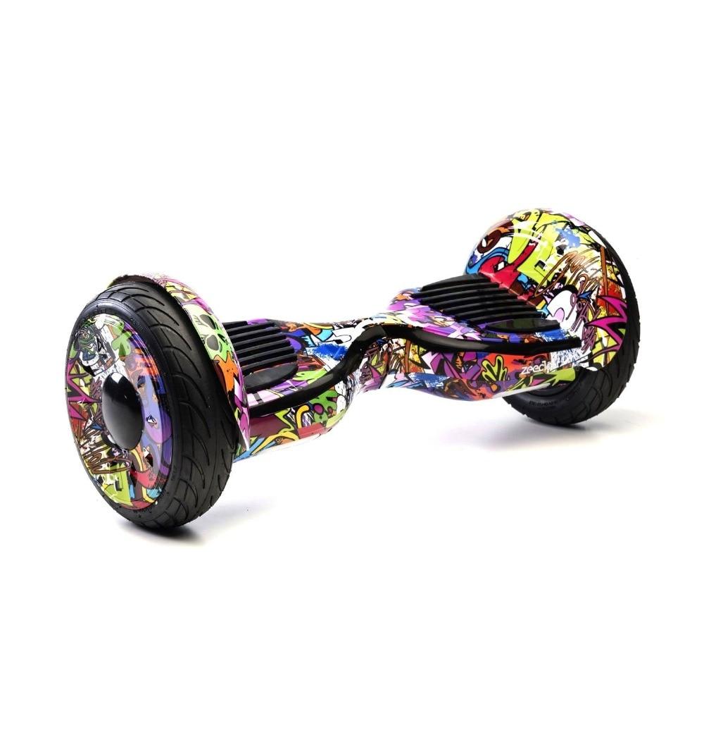 Zeeclo H3XV, KIT Hoverboard Electrico 10 '', Bolsa, Protecion Funda, Silicona, Infantil, Adultos, Graffity