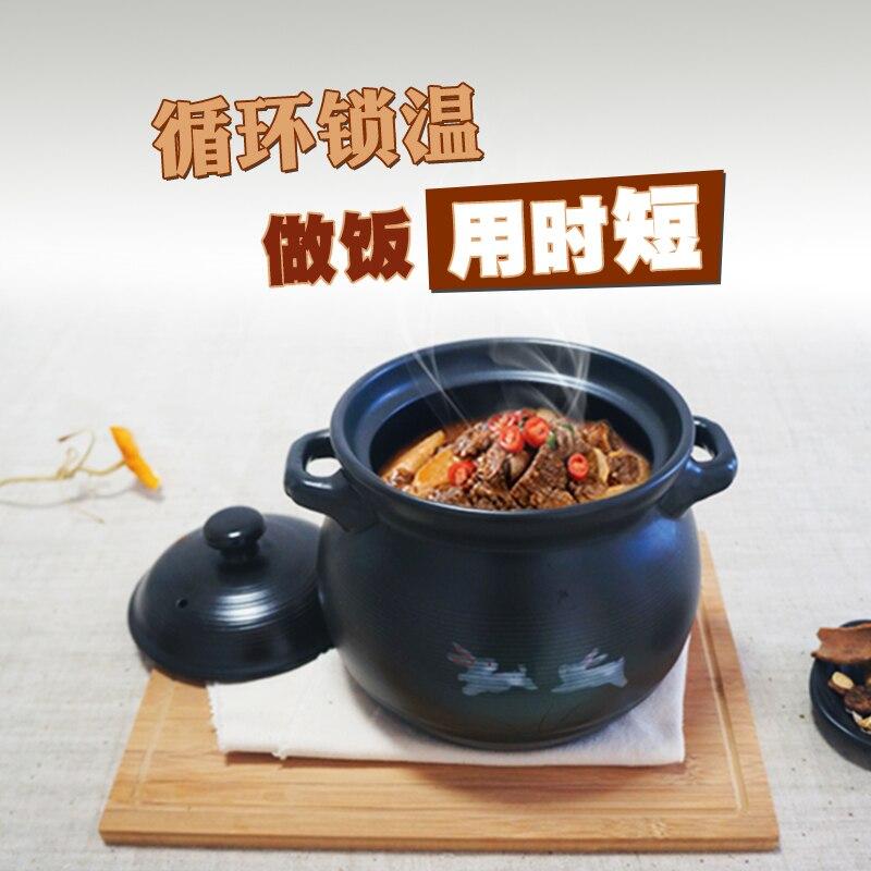 Japonais modernité multiples styles cassy en céramique fait main pur vapeur casseroles famille dépenses résistant à la chaleur soupe pot chaudière