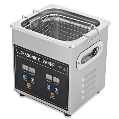 2L Digital Ultrasonic Cleaner Machine with Heater Timer Cleaning Jewelry False Tooth Shaver