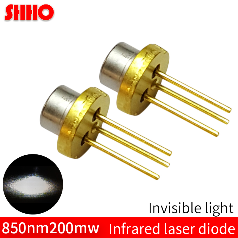 High quality TO18/diameter 5.6mm <font><b>850nm</b></font> 200mw infrared <font><b>laser</b></font> <font><b>diode</b></font> IR <font><b>laser</b></font> launcher head invisible light emitter high power image