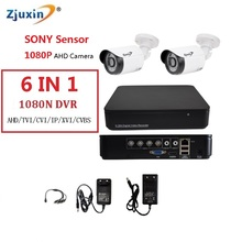 1PC 6IN1 4CH 1080N AHD DVR KIT 1080P SONY SENSOR HD Indoor and outdoor Security Camera USE 1080P 3.6MM Len AHD Cam Set