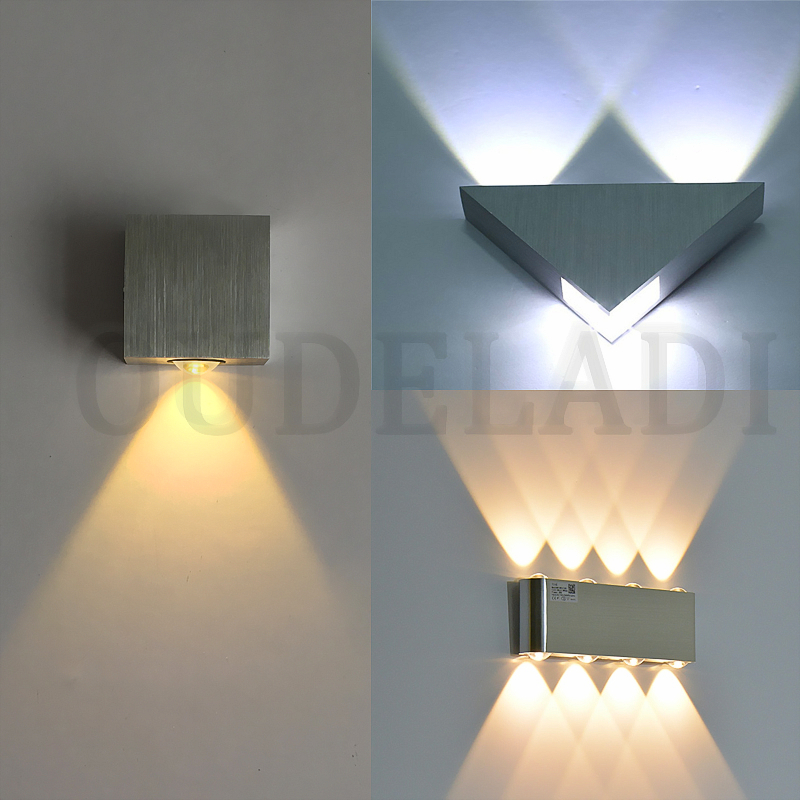 Triangle/Square Aluminum Wall Lamp 1W2W3W4W5W6W8W LED Wall Lamp Sconce For Home Modern Living Room Wall Lamps Porch Lights