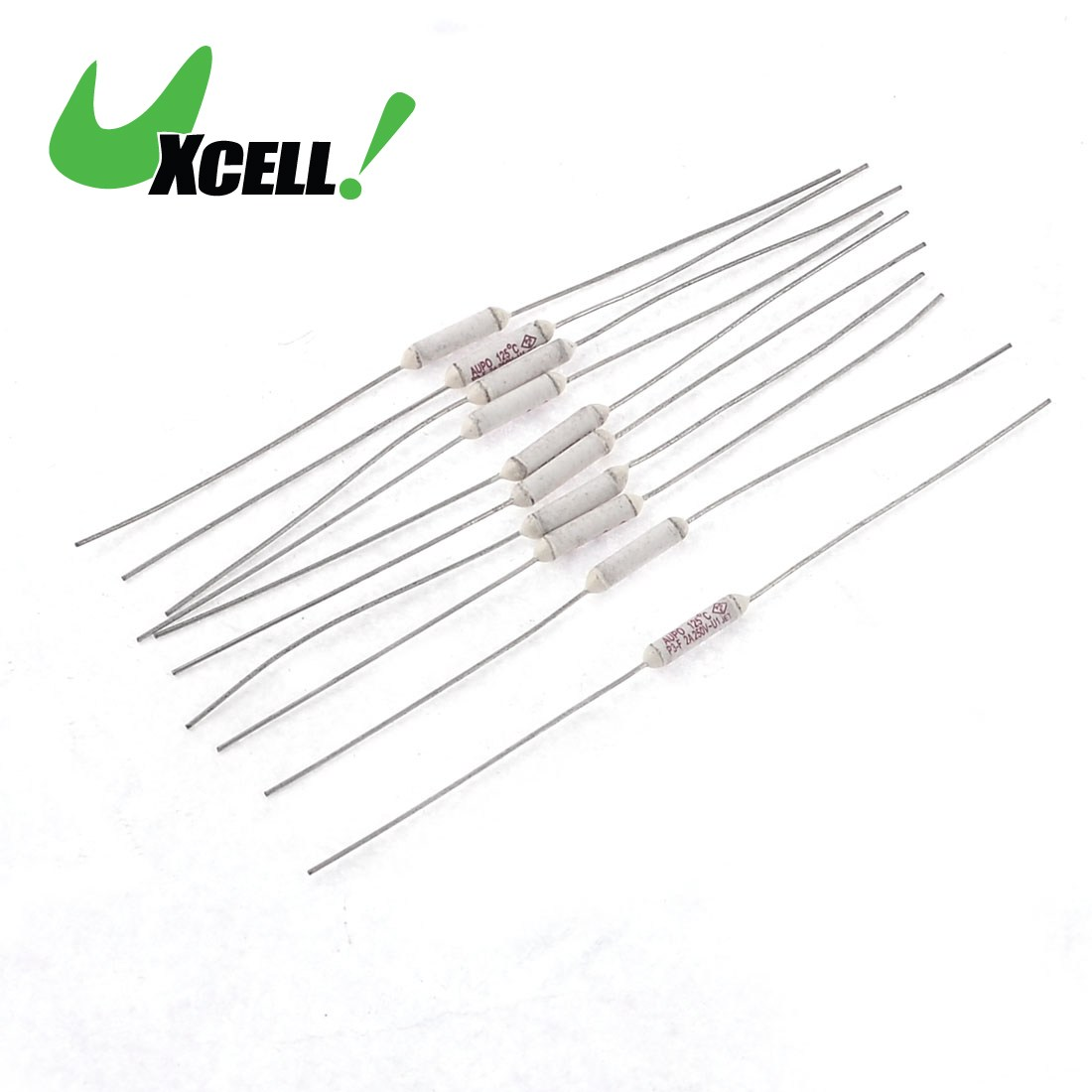UXCELL Hot Sale 10Pcs/lot 250V 2A 125 Celsius Cylinder Circuit Cut Off Temperature 12x2.5mm Thermal Fuse 85mm Length Quality 20 pcs ry series metal 192 celsius 250v 10a cutoffs thermal fuse