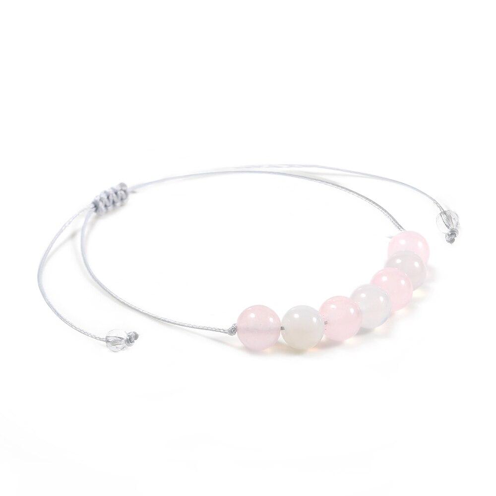 Pulsera de cuentas de diamantes de imitación de Yoga rosa encantador TL con cuentas doradas de acero inoxidable Pulseras de Moda de borla de alta calidad para mujer
