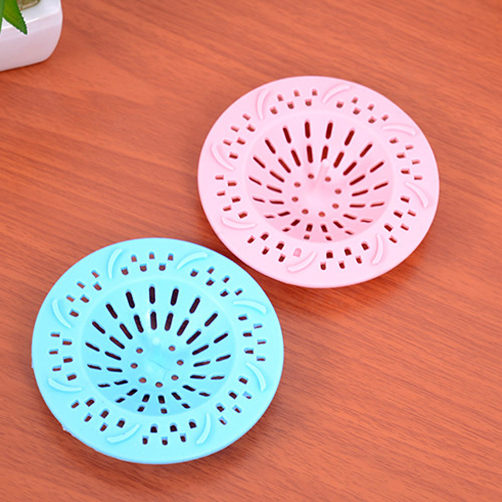 Drain Hair Stopper Cover Filter Sink Strainer Silicone Bathroom Kitchen Shower Anti-Clogging Shield Wash Bowls Sinks Bath Tubs