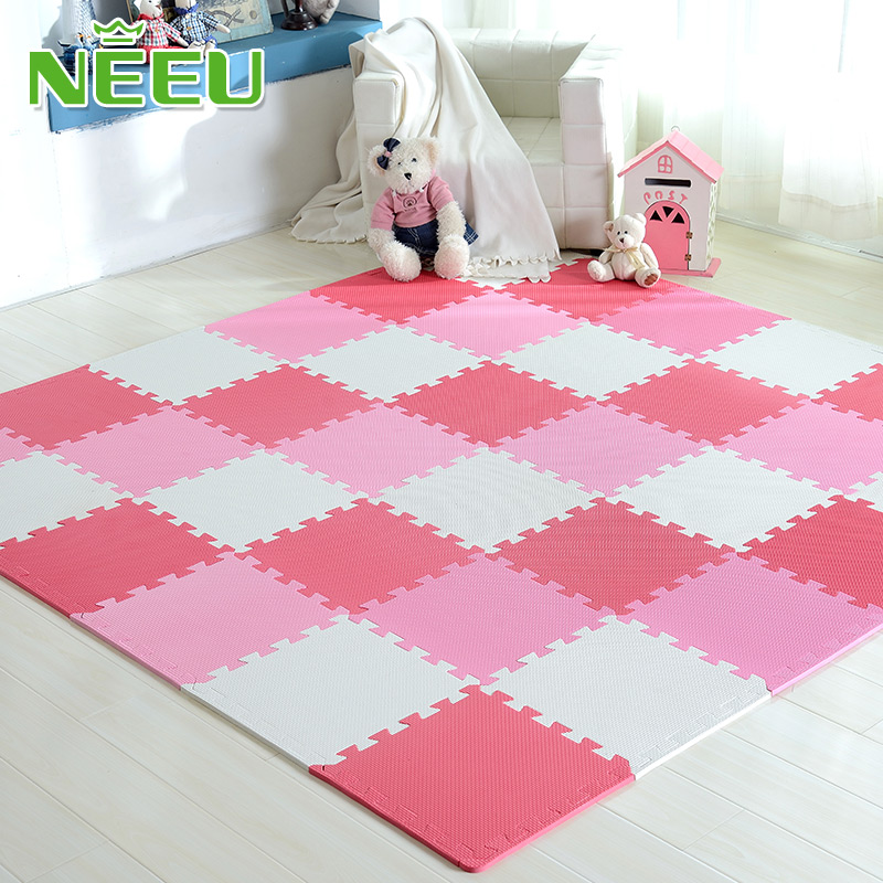 9pcs/lot Baby Play Mat Puzzle Mats EVA Foam Mat Kids Rug Spilt Joint Mats 30X30X1cm Developing Mat Floor Tiles Mat For Children
