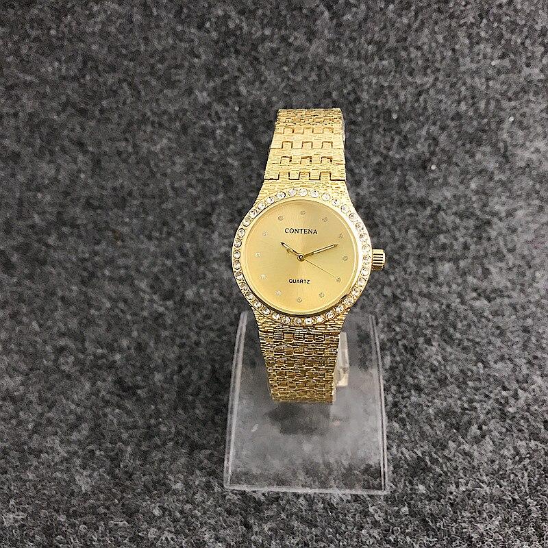 6239DNew Arrival CONTENA Brand Women Dress Watches Quartz-Watch Luxury Alloy Bracelet Stainless Steel  Wristwatch