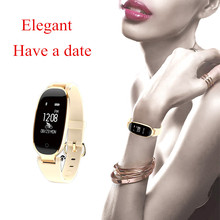Women Smart Watch Gifts for Girl Heart Rate Monitor Bluetooth Fitness Bracelet Smart Bracelet for IOS Xiaomi Phone PK Mi band 3 ip68 swim color touch smart watch hr bp o2 smart wristbands monitor fitness bracelet for ios xiaomi honor pk mi band 2 fit bit 3