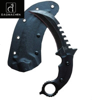 Outdoor Tactical Karambit Knife Camping Survival Hunting Claw Knives Multi Purpose Tools D2 Blade Huntsman Knive