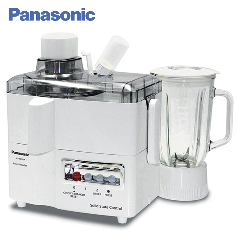 Panasonic MJ-M171PWTQ Juicer Blender 230W 2 speeds of operation Protection against accidental activation соковыжималка электрическая panasonic mj m171pwtq