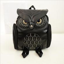 2017 zhuoku Brands Mochila Fashion Cute Owl Backpack Women Cartoon School Bags For Teenagers Girls PU Leather