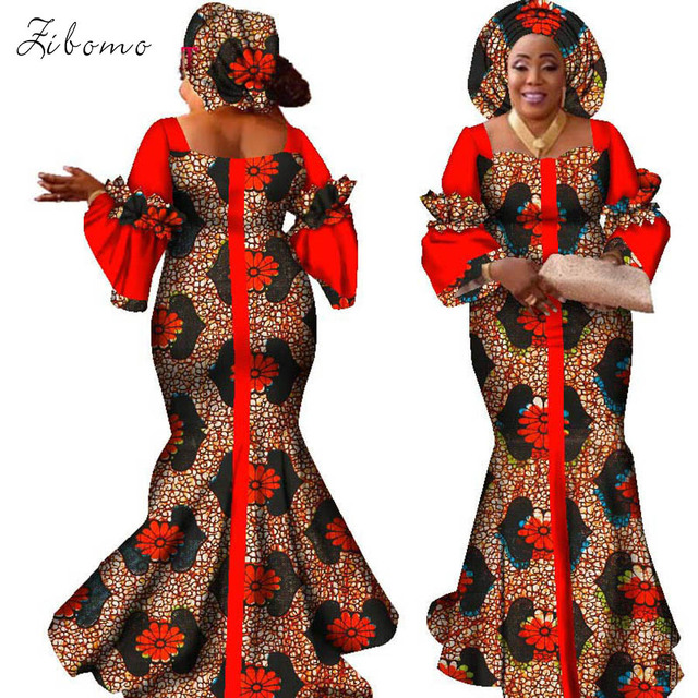 fc40427fa3428 New African dresses for women wax fabric banquet evening formal maxi plus  big size African clothing dashiki ankara African dress