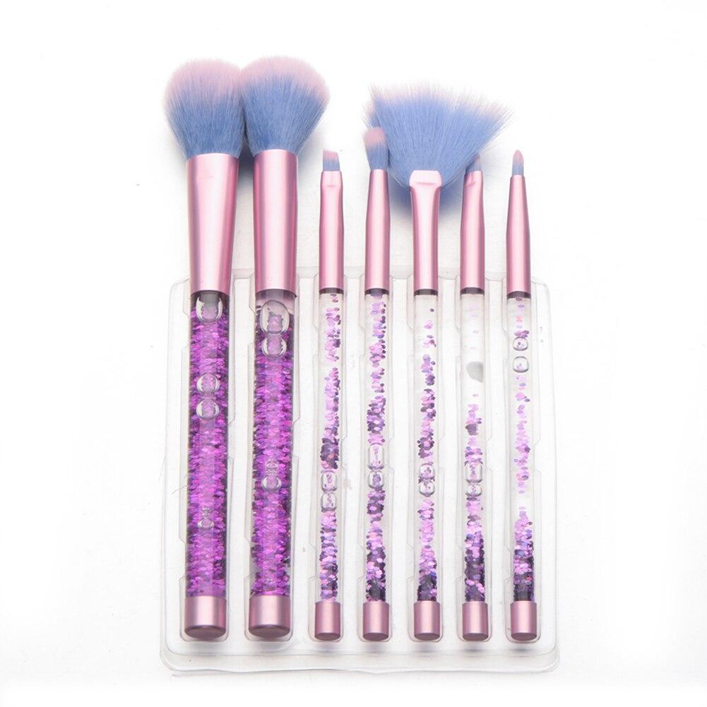 7Pcs Professional Makeup Face Powder Foundation Eyeshadow Lip Cosmetic Brush Set bob cosmetic makeup powder w puff mirror ivory white 02