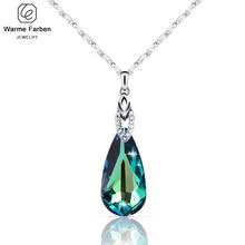 Isıtıcı Farben Swarovski Kristal Kolye Kadınlar için Su Damlası Şekilli Kristal Kolye Kolye Takı sevgililer Hediye