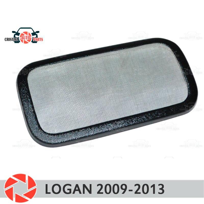 Malha filtro sob jabot para Renault Logan 2009-2013 plástico ABS proteção decoração em relevo exterior car styling acessórios