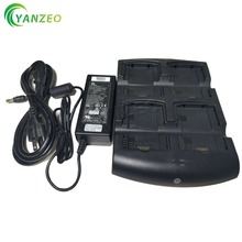 SACX000 4000CR For Symbol Motorola MC3190 MC3090 MC75 Power Supply 4 Slot Battery Charger