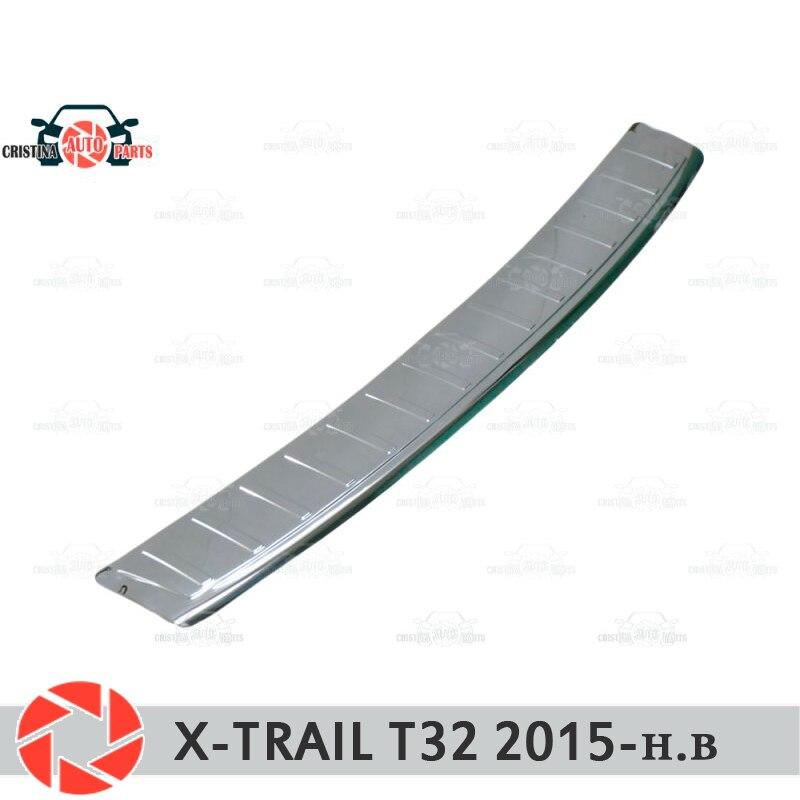 Placa de tampa do amortecedor traseiro para Nissan X Trail-T32 2015-2018 placa de proteção do carro styling acessórios de decoração moldagem selo