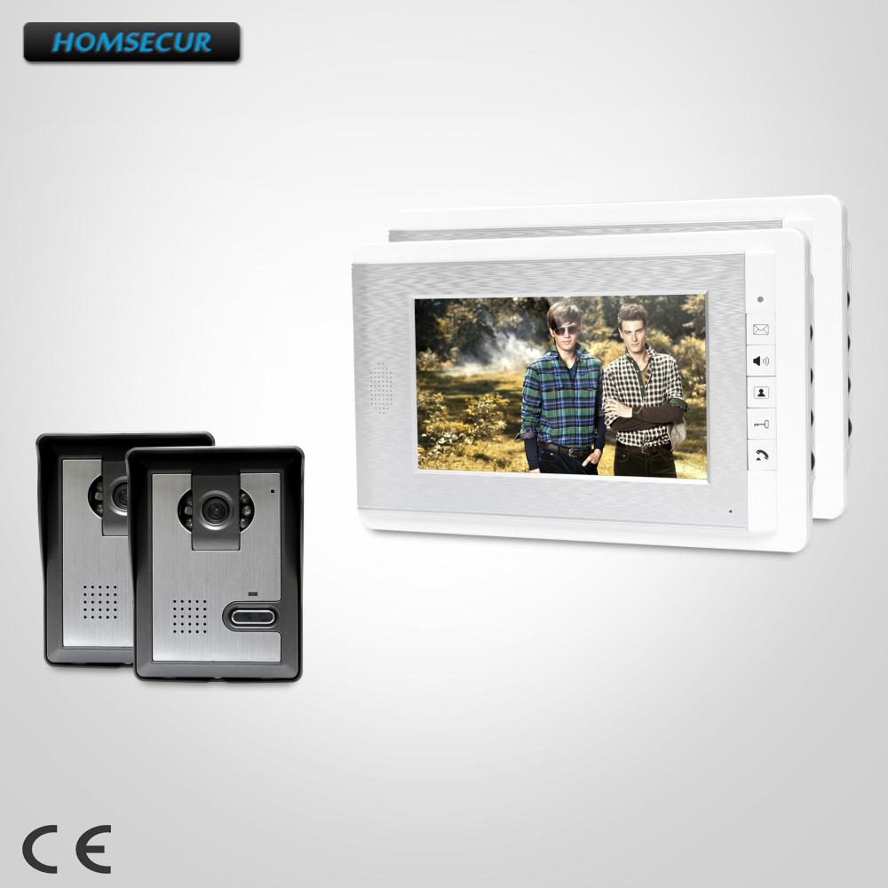 HOMSECUR 7inch Video Door Intercom System with Mute Mode for Home Security for Apartment : XC005+XM708-SHOMSECUR 7inch Video Door Intercom System with Mute Mode for Home Security for Apartment : XC005+XM708-S