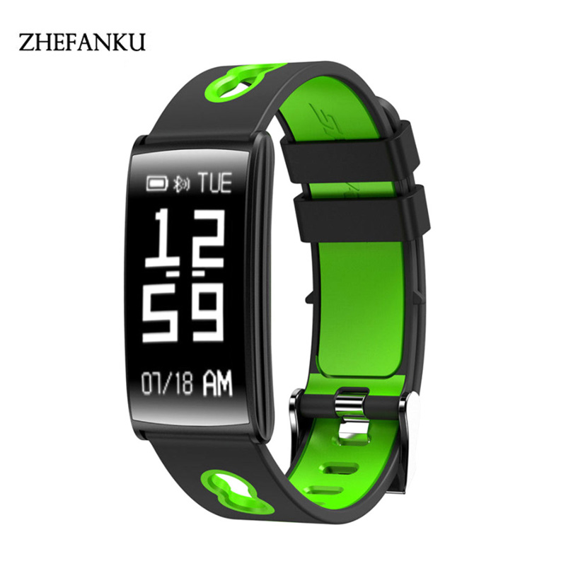 Smart Sports Watch Heart Rate Blood Pressure Monitor Smart Bracelet Wristwatch IP67 Waterproof Bluetooth Watch For Android IOS jaysdarel heart rate blood pressure monitor smart watch no 1 gs8 sim card sms call bluetooth smart wristwatch for android ios