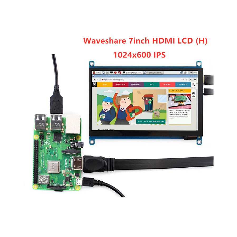 ShenzhenMaker Store 7 inch HDMI LCD H Tablet Monitor 1024x600 IPS Capacitive Touch ScreenSupports Raspberry Pi