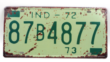 1 pc Indiana tin sign plate US American car license plaques man cave garage