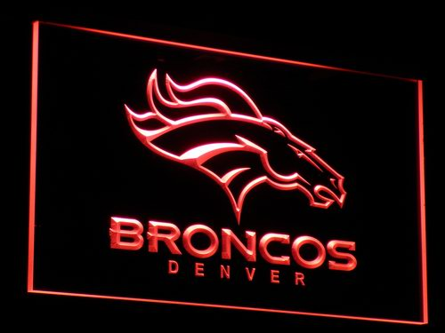 b067 Denver Broncos Bar Pub Logo LED Neon Sign with On/Off Switch 7 Colors 4 Sizes to choose