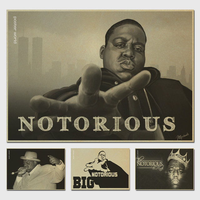 The notorious big collage music poster print retro poster vintage painting prints home bar decor