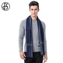 FS Marque Designer Cachemire Hommes Écharpe Géométrique Hiver Laine De Mode  Homme Longues Écharpes Affaires Chaud caeddd15085