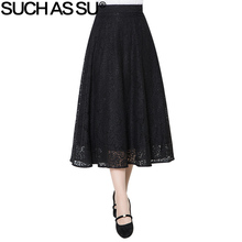 Mid Patchwork Skirt Lace