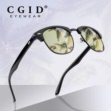 купить CGID Semi Rimless Polarized Sunglasses Classic Brand Designer Unisex UV400 Fashion Male Half Frame Glasses Eyewear for Women Men по цене 554.9 рублей