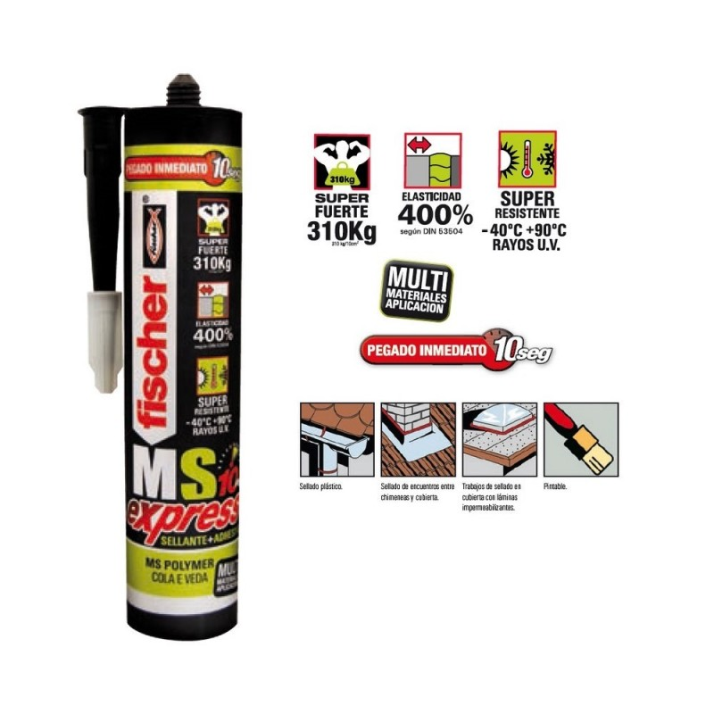 FISCHER 519364 Polymer MS PROFESSIONAL White|Silicone Sealant|   - title=