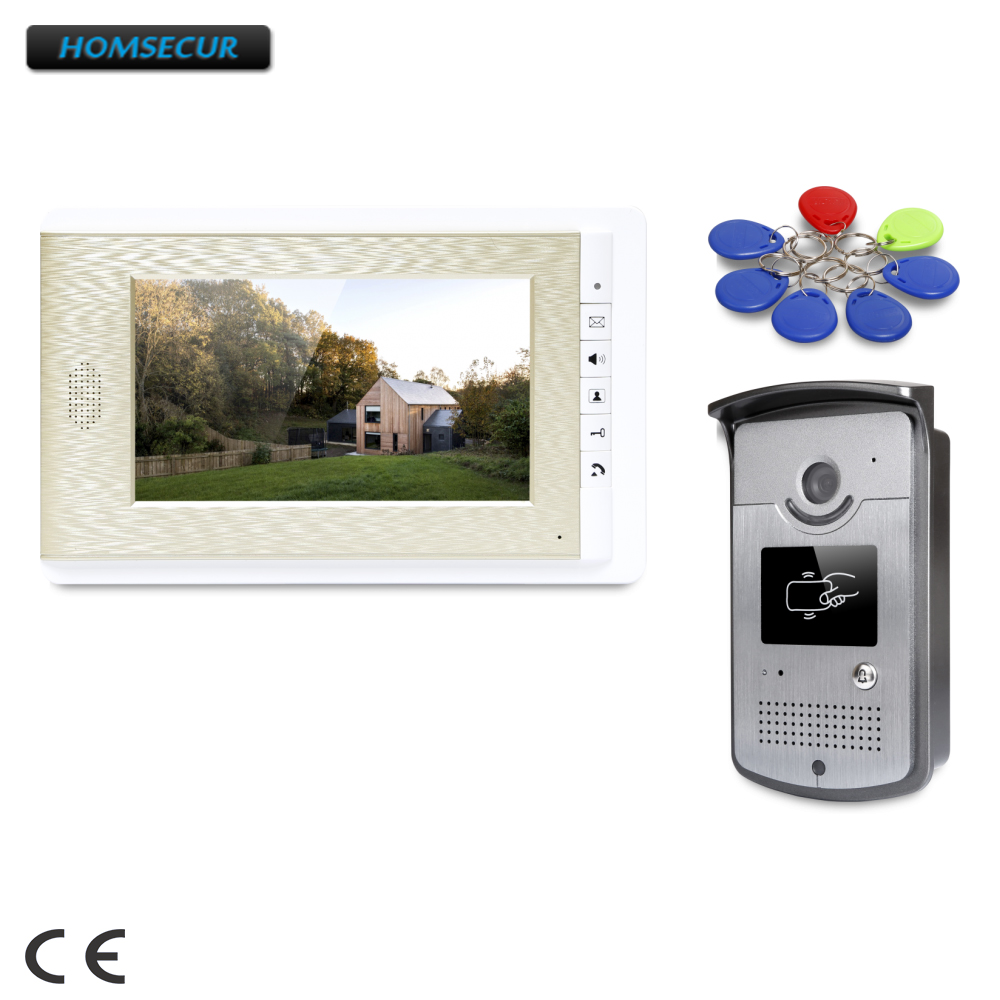 все цены на HOMSECUR 7inch Wired Video Door Entry Phone Call System with Intra-monitor Audio Intercom : XC001+XM708-G онлайн