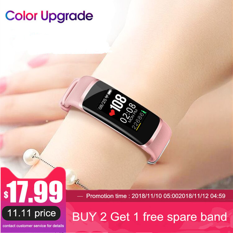 Longet Inseguitore di Fitness M4 Più Nuovo circuito integrato Nrf52832 Frequenza Cardiaca in tempo reale + Monitor di pressione sanguigna Intelligente wristband del Braccialetto & cronometro