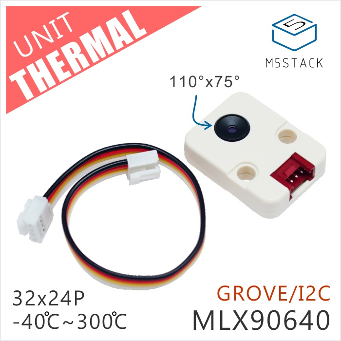 M5Stack Official New Thermal Camera MLX90640 with GROVE I2C Compatible M5GO FIRE ESP32 Kit Mini Development