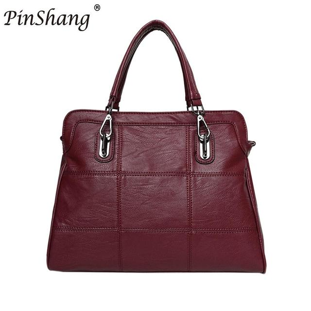 95d5cd3b2d PinShang Leisure Spiraea Women s Soft Leather Work Tote Fashion Single Shoulder  Bag Large Capacity PU Handbag