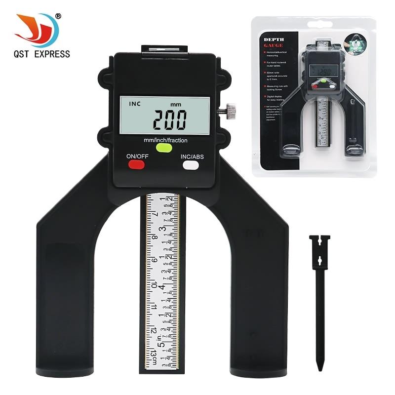 0-80 MM ROUTER OR SAW BLADE DIGITAL LCD DEPTH GAUGE MAGNETIC FEET SELF STANDING