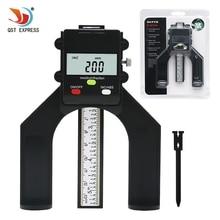 Цифровой глубиномер QSTEXPRESS цифровой измеритель Глубина рисунка протектора lcd Магнитная устойчивая диафрагма 80 мм ручные роутеры