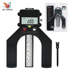 QSTEXPRESS profundidad Digital Tread Digital medidor de profundidad LCD magnética pie apertura 80mm mano Routers