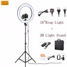 RL 18 Inch LED Camera Video Phone Photo Studio 55W 5500K Daylight LED Ring Light Lamp Make Up Selfie Light Lamp&Tripod Stand