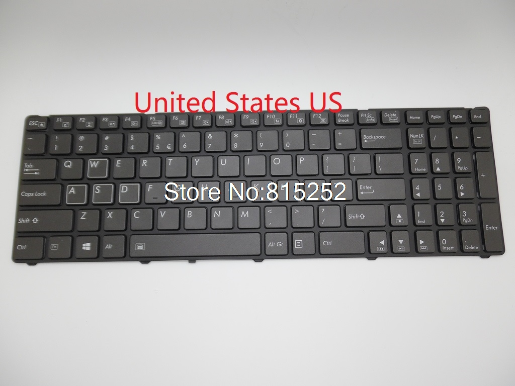 Laptop Keyboard For Gigabyte P25W 2Z703-UI552-S11S English 2Z703-UK552-S11S V111465EK1 United Kingdom 2Z703-KR552-S11 Korea KR laptop keyboard for acer silver without frame united kingdom uk v 121646ck2 uk aezqse00110